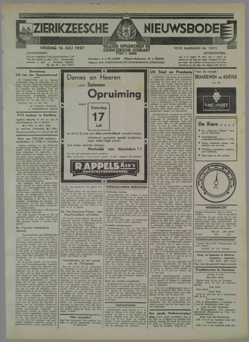 Zierikzeesche Nieuwsbode 1937-07-16