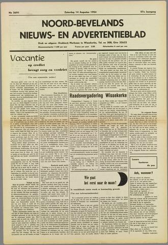 Noord-Bevelands Nieuws- en advertentieblad 1954-08-14