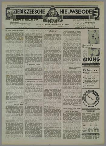 Zierikzeesche Nieuwsbode 1937-02-27