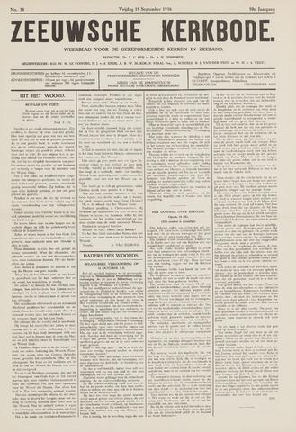 Zeeuwsche kerkbode, weekblad gewijd aan de belangen der gereformeerde kerken/ Zeeuwsch kerkblad 1936-09-18