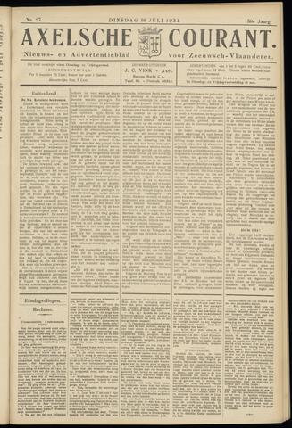 Axelsche Courant 1934-07-10