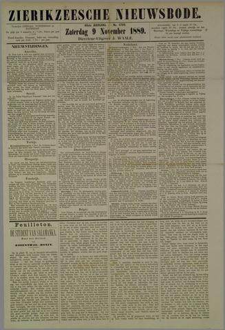Zierikzeesche Nieuwsbode 1889-11-09