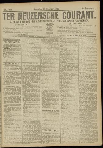 Ter Neuzensche Courant. Algemeen Nieuws- en Advertentieblad voor Zeeuwsch-Vlaanderen / Neuzensche Courant ... (idem) / (Algemeen) nieuws en advertentieblad voor Zeeuwsch-Vlaanderen 1915-02-13