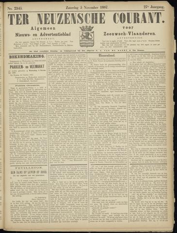Ter Neuzensche Courant. Algemeen Nieuws- en Advertentieblad voor Zeeuwsch-Vlaanderen / Neuzensche Courant ... (idem) / (Algemeen) nieuws en advertentieblad voor Zeeuwsch-Vlaanderen 1887-11-05