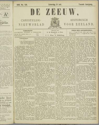 De Zeeuw. Christelijk-historisch nieuwsblad voor Zeeland 1888-07-31