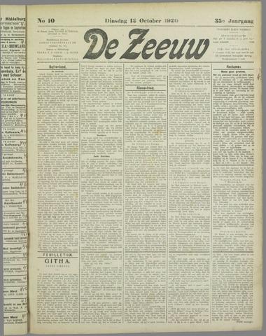 De Zeeuw. Christelijk-historisch nieuwsblad voor Zeeland 1920-10-12