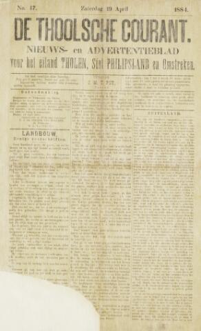 Ierseksche en Thoolsche Courant 1884-04-19