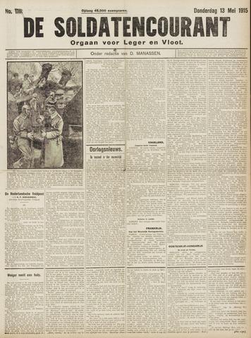 De Soldatencourant. Orgaan voor Leger en Vloot 1915-05-13