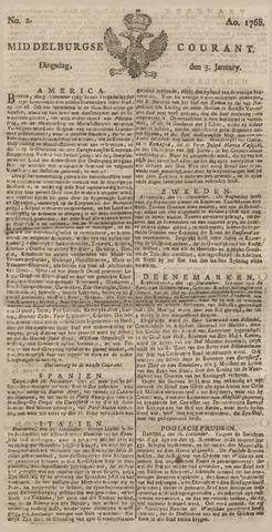 Middelburgsche Courant 1768-01-05