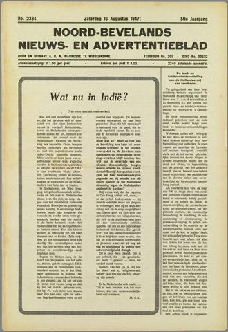 Noord-Bevelands Nieuws- en advertentieblad 1947-08-16