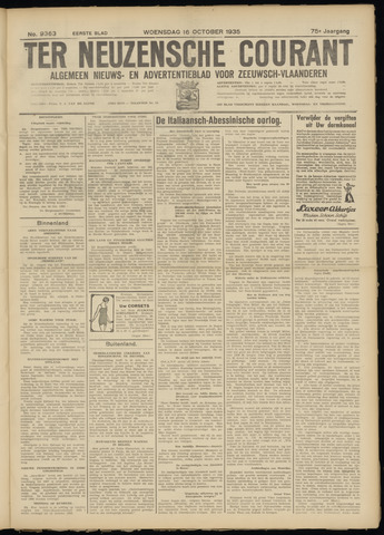 Ter Neuzensche Courant. Algemeen Nieuws- en Advertentieblad voor Zeeuwsch-Vlaanderen / Neuzensche Courant ... (idem) / (Algemeen) nieuws en advertentieblad voor Zeeuwsch-Vlaanderen 1935-10-16