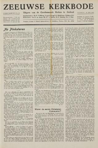 Zeeuwsche kerkbode, weekblad gewijd aan de belangen der gereformeerde kerken/ Zeeuwsch kerkblad 1949-06-10