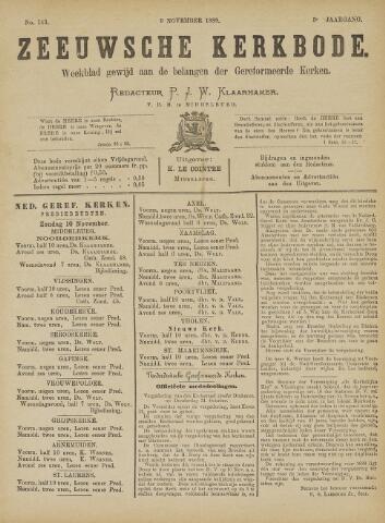 Zeeuwsche kerkbode, weekblad gewijd aan de belangen der gereformeerde kerken/ Zeeuwsch kerkblad 1889-11-09