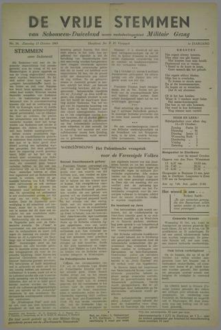 Vrije Stemmen van Schouwen-Duiveland, tevens mededeelingenblad Militair Gezag 1945-10-13