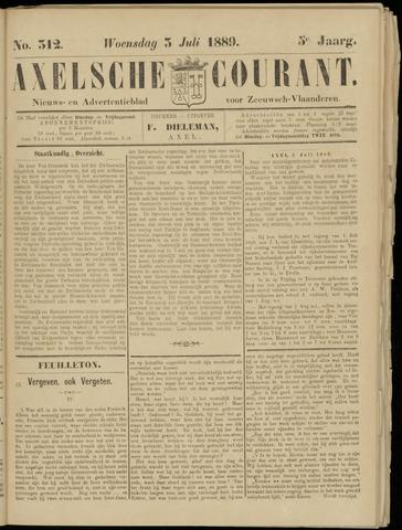 Axelsche Courant 1889-07-03