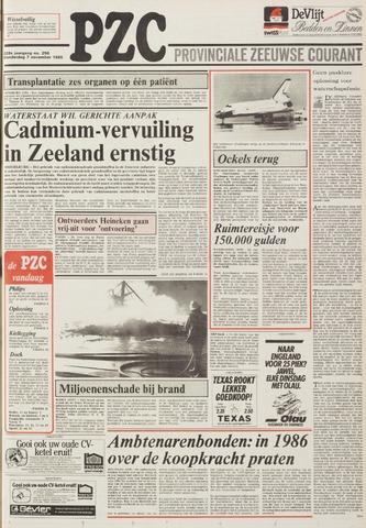 Provinciale Zeeuwse Courant 1985-11-07
