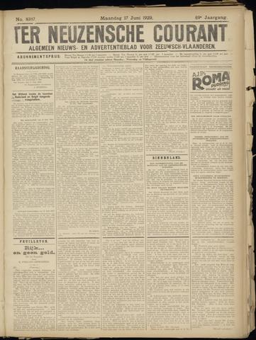Ter Neuzensche Courant. Algemeen Nieuws- en Advertentieblad voor Zeeuwsch-Vlaanderen / Neuzensche Courant ... (idem) / (Algemeen) nieuws en advertentieblad voor Zeeuwsch-Vlaanderen 1929-06-17
