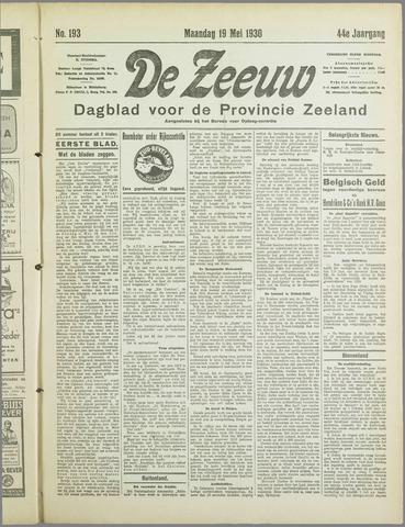 De Zeeuw. Christelijk-historisch nieuwsblad voor Zeeland 1930-05-19