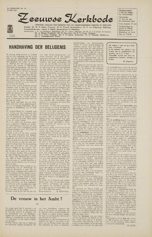 Zeeuwsche kerkbode, weekblad gewijd aan de belangen der gereformeerde kerken/ Zeeuwsch kerkblad 1965-05-28