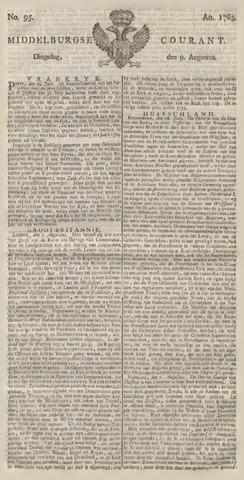 Middelburgsche Courant 1763-08-09