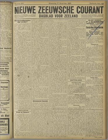 Nieuwe Zeeuwsche Courant 1920-11-17