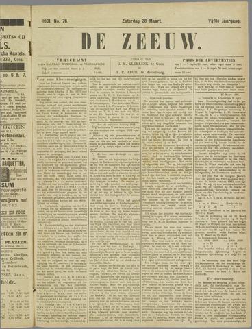 De Zeeuw. Christelijk-historisch nieuwsblad voor Zeeland 1891-03-28
