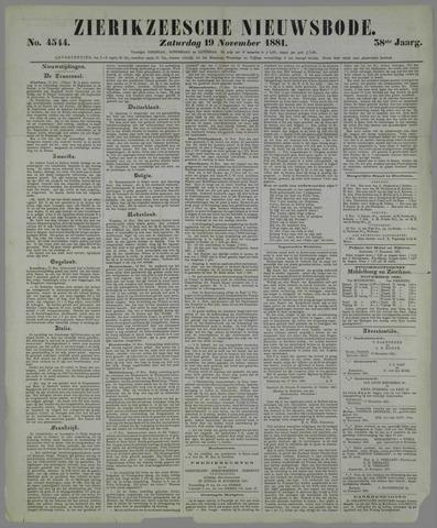 Zierikzeesche Nieuwsbode 1881-11-19