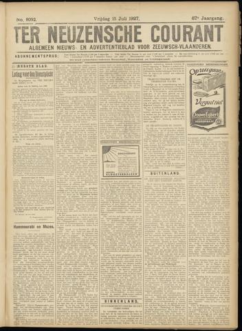 Ter Neuzensche Courant. Algemeen Nieuws- en Advertentieblad voor Zeeuwsch-Vlaanderen / Neuzensche Courant ... (idem) / (Algemeen) nieuws en advertentieblad voor Zeeuwsch-Vlaanderen 1927-07-15