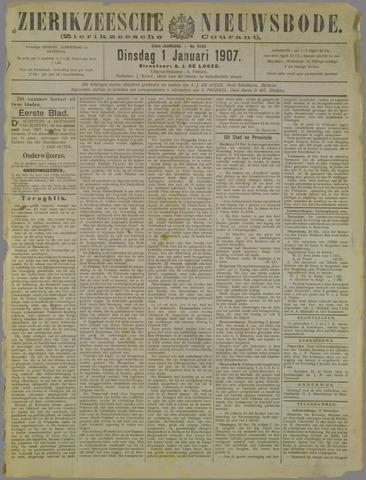 Zierikzeesche Nieuwsbode 1907-01-01