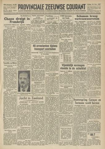 Provinciale Zeeuwse Courant 1947-11-28