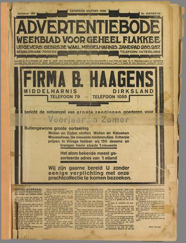 Advertentiebode. Gratis weekblad voor Goeree en Overflakkee 1928