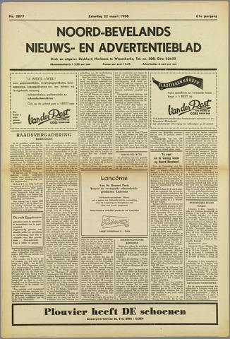 Noord-Bevelands Nieuws- en advertentieblad 1958-03-22