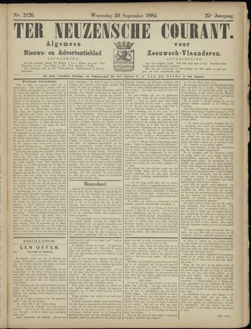 Ter Neuzensche Courant. Algemeen Nieuws- en Advertentieblad voor Zeeuwsch-Vlaanderen / Neuzensche Courant ... (idem) / (Algemeen) nieuws en advertentieblad voor Zeeuwsch-Vlaanderen 1885-09-30