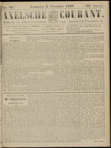 Axelsche Courant 1918-11-06