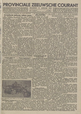 Provinciale Zeeuwse Courant 1943-01-11
