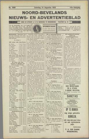 Noord-Bevelands Nieuws- en advertentieblad 1935-08-24