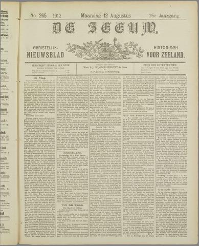 De Zeeuw. Christelijk-historisch nieuwsblad voor Zeeland 1912-08-12