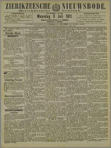 Zierikzeesche Nieuwsbode 1911-07-03