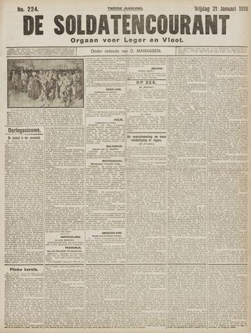 De Soldatencourant. Orgaan voor Leger en Vloot 1916-01-21