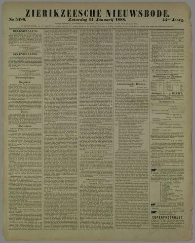 Zierikzeesche Nieuwsbode 1888-01-14