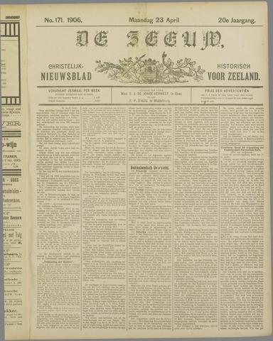 De Zeeuw. Christelijk-historisch nieuwsblad voor Zeeland 1906-04-23
