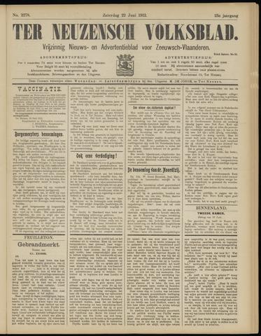 Ter Neuzensch Volksblad. Vrijzinnig nieuws- en advertentieblad voor Zeeuwsch- Vlaanderen / Zeeuwsch Nieuwsblad. Nieuws- en advertentieblad voor Zeeland 1912-06-22