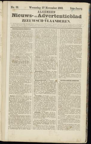 Ter Neuzensche Courant. Algemeen Nieuws- en Advertentieblad voor Zeeuwsch-Vlaanderen / Neuzensche Courant ... (idem) / (Algemeen) nieuws en advertentieblad voor Zeeuwsch-Vlaanderen 1861-11-27