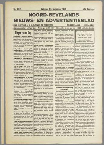 Noord-Bevelands Nieuws- en advertentieblad 1948-09-25