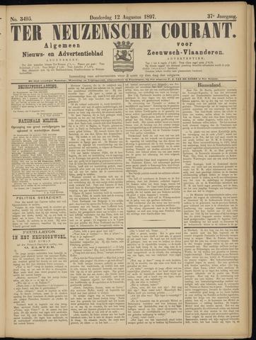 Ter Neuzensche Courant. Algemeen Nieuws- en Advertentieblad voor Zeeuwsch-Vlaanderen / Neuzensche Courant ... (idem) / (Algemeen) nieuws en advertentieblad voor Zeeuwsch-Vlaanderen 1897-08-12