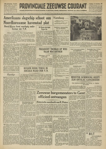 Provinciale Zeeuwse Courant 1950-10-13