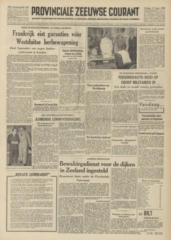 Provinciale Zeeuwse Courant 1954-09-17