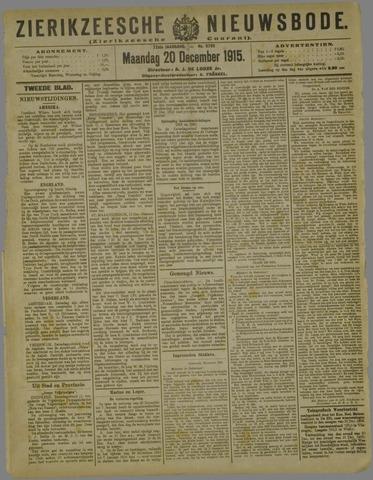 Zierikzeesche Nieuwsbode 1915-12-20