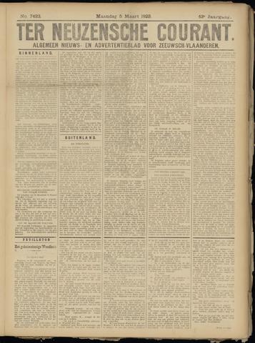 Ter Neuzensche Courant. Algemeen Nieuws- en Advertentieblad voor Zeeuwsch-Vlaanderen / Neuzensche Courant ... (idem) / (Algemeen) nieuws en advertentieblad voor Zeeuwsch-Vlaanderen 1923-03-05