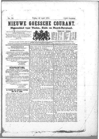 Nieuwe Goessche Courant 1870-04-29